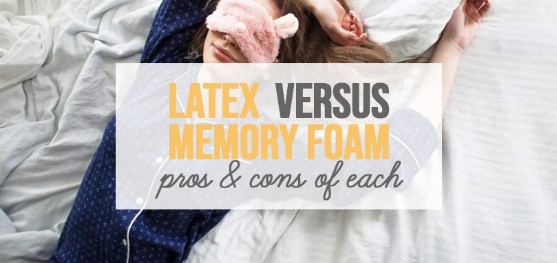 Latex versus Memory Foam