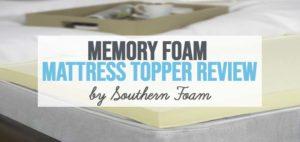 an image of southern foam memory foam mattress topper