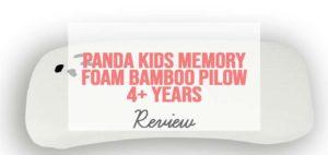 panda kids memory foam bamboo pillow 4+ years