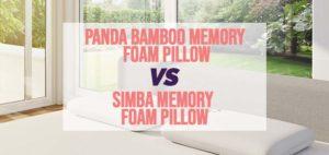 Panda Bamboo memory foam pillow vs Simba memory foam pillow