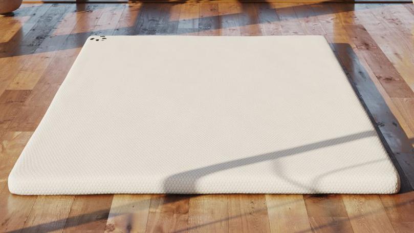 Mattress topper on a wooden floor