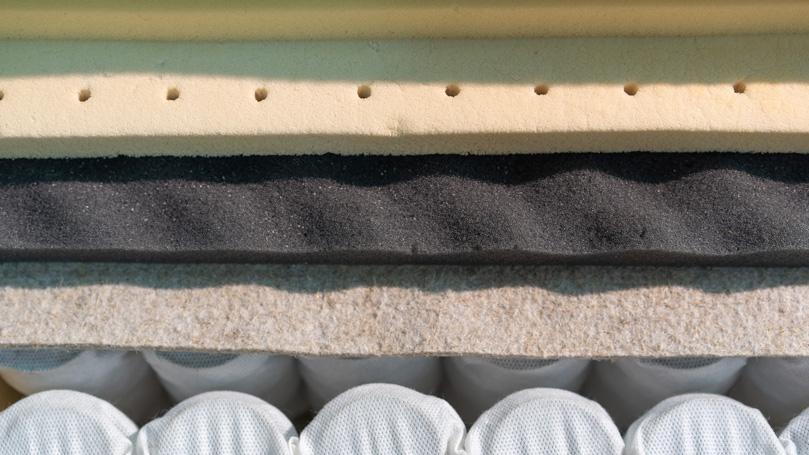 Hybrid mattress filling
