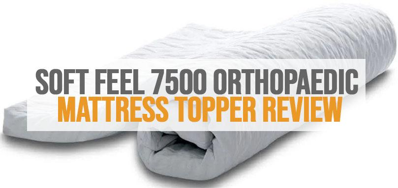 an image of soft feel 7500 memory foam orthopaedic mattress topper